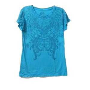 🎃 Blue Stranded short sleeve t shirt